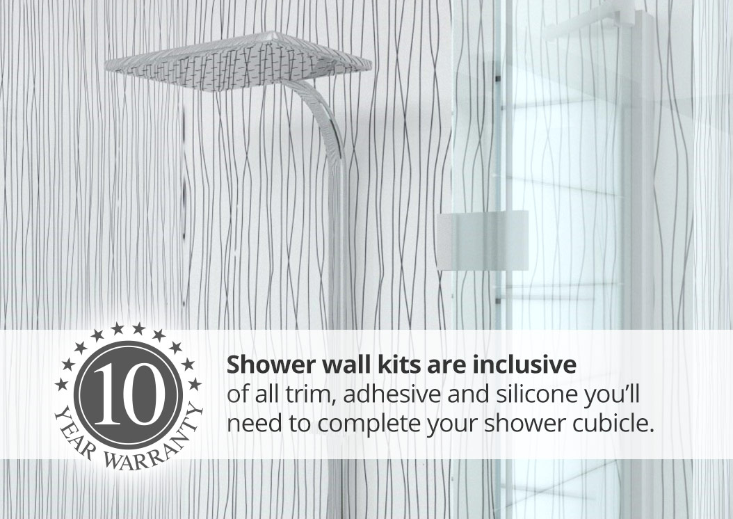 aquabord pvc wide panel shower kits