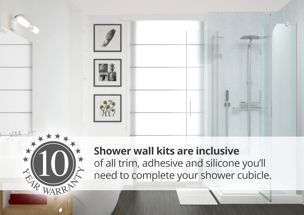 aquaclad narrow panel shower wall kits