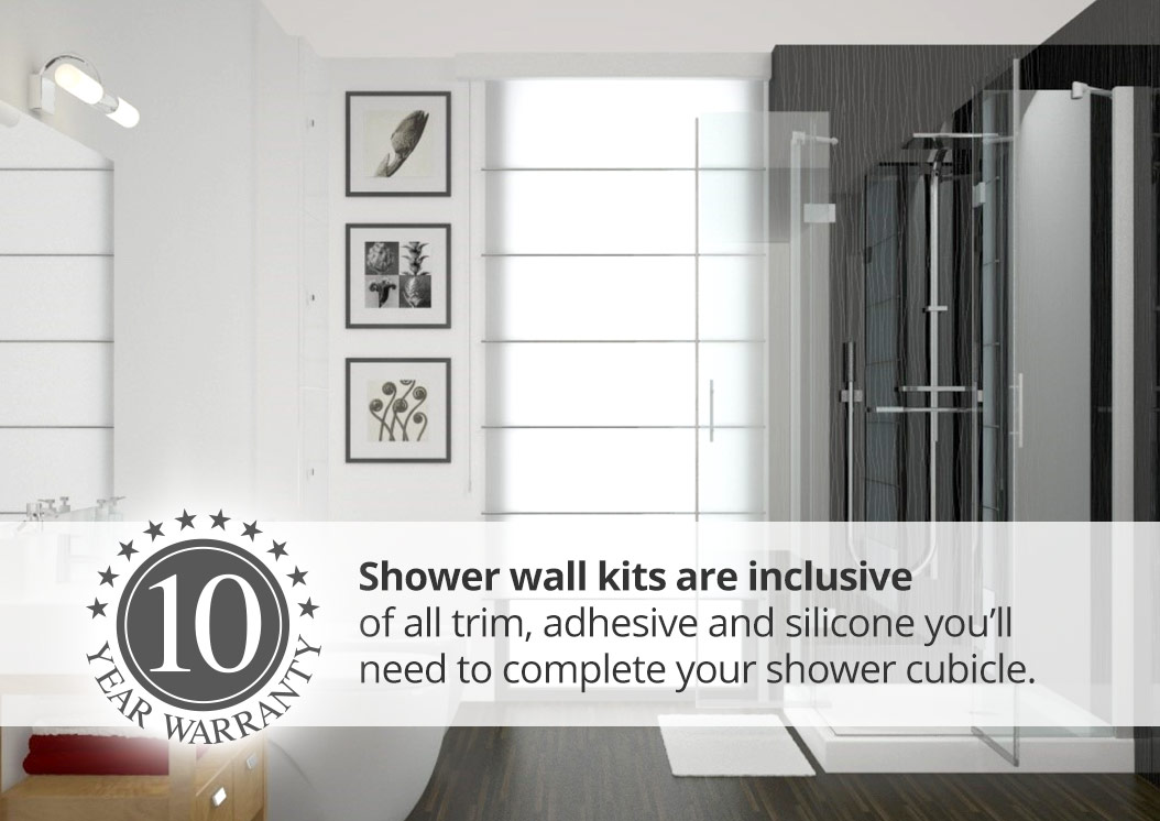 grey plastic wall panels from the aquabord range by Interior Panel Systems