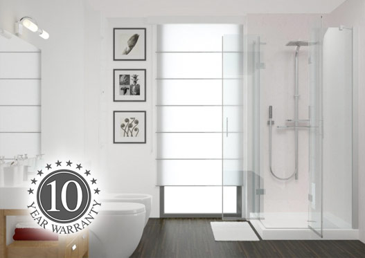 Contemporary bathroom with shower panels by Interior Panel Systems