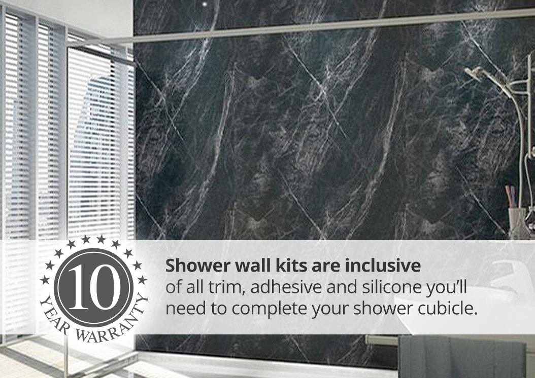 mermaid shower wall panel kit